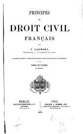 Principes de droit civil français: Volume8