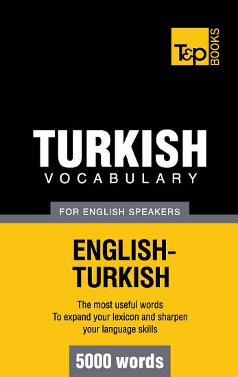 Turkish vocabulary for English speakers   5000 words PDF