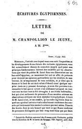 Lettre de M. Champollion le jeune à M. Z***