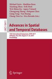 Advances in Spatial and Temporal Databases: 15th International Symposium, SSTD 2017, Arlington, VA, USA, August 21 – 23, 2017, Proceedings