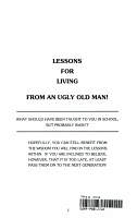 Lessons for Living from an Ugly Old Man PDF