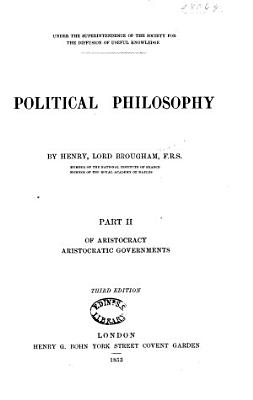 Political Philosophy  Of aristocracy  Aristocratic governments PDF