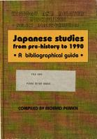 Japanese Studies from Pre History to 1990 PDF
