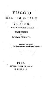 Viaggio sentimentale di Yorick: lungo la Francia e l'Italia