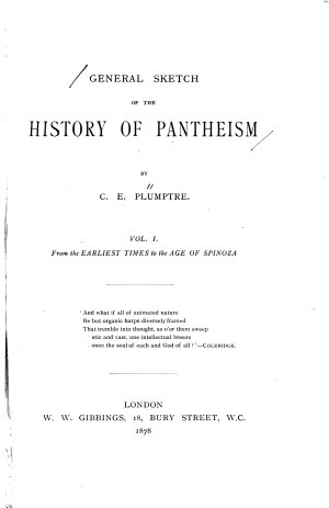 General Sketch of the History of Pantheism