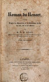 Le Roman du Renart: Volume3