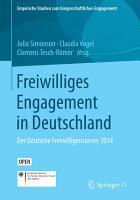 Freiwilliges Engagement in Deutschland PDF