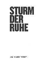 Sturm der Ruhe PDF