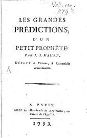 Les grandes predictions d'un petit prophete