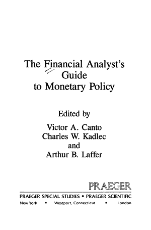 The Financial Analyst's Guide to Monetary Policy