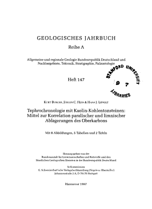 Tephrochronologie mit Kaolin Kohlentonsteinen PDF