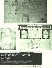 Hellenistische bauten in Latium: Band 1
