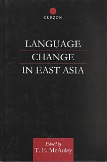 Language Change in East Asia Book
