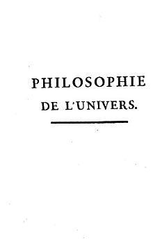 Philosophie De L Univers  Ou Th  orie Philosophique De La Nature PDF