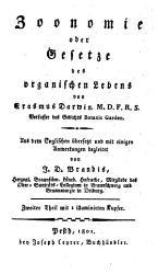 Zoonomie oder Gesetze des organischen Lebens PDF