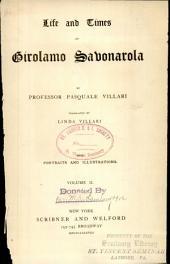 Life and Times of Girolamo Sabonarola