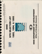 Ohio Site Selection List 1993, 1994 & 1995