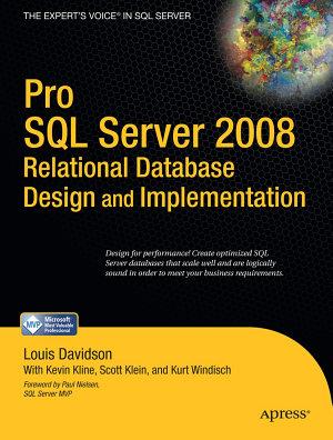Pro SQL Server 2008 Relational Database Design and Implementation PDF