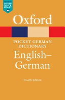 The pocket Oxford German dictionary  English   German PDF