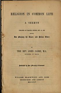 Religion in Common Life Book