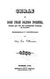 Obras de don Juan Pablo Forner
