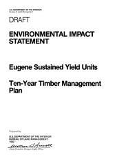 Eugene Timber Management: Environmental Impact Statement