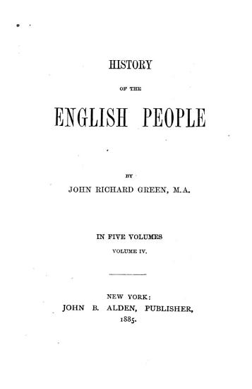 History of the English People PDF