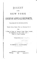 Digest of the New York Court of Appeals Reports PDF