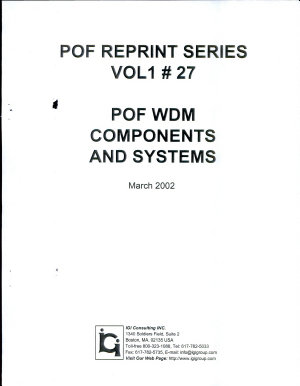 POF WDM Components and Systems PDF