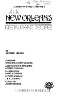 Catherine Grady Crabtree s    la New Orleans Restaurant Recipes PDF