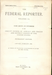 The Federal Reporter: Volume 83