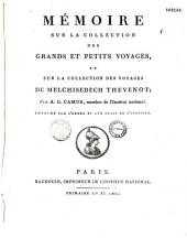 Mémoire sur la collection des grands et petits voyages et sur la collection des voyages de Melchisedech Thevenot