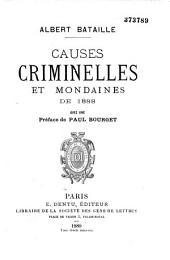 Causes criminelles et mondaines...