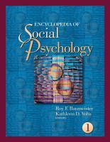 Encyclopedia of Social Psychology PDF