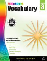 Spectrum Vocabulary  Grade 3 PDF