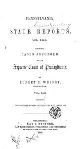 Pennsylvania State Reports: Volume 49