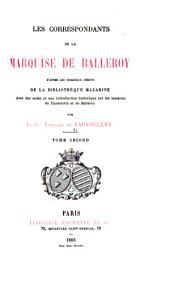 Les correspondants de la marquise de Balleroy: Volume2