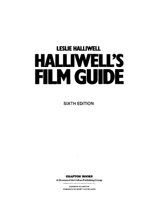 Halliwell s Film Guide PDF