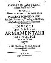 Appendix Dissertationis ... Marc. Schönmanni