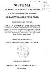 Sistema de los conocimientos químicos y de sus aplicaciones a los fenómenos de la naturaleza y del arte: Volumen 10