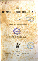 The Hymns of the Rig veda in the Samhita and the Pada Texts by F  Max Muller Reprint PDF