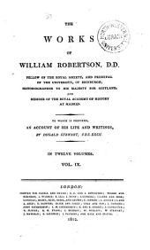 The Works of William Robertson: The history of America