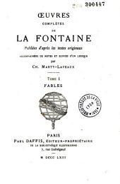 Oeuvres complètes de La Fontaine: The͡atre
