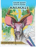 Color Quest Color by Number Animals PDF