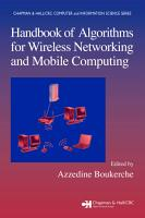 Handbook of Algorithms for Wireless Networking and Mobile Computing PDF