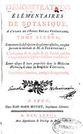 Démonstrations élémentaires de botanique...: tome second contenant la description des plantes usuelles...