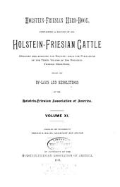 Holstein-Friesian Herd-book: Volume 11