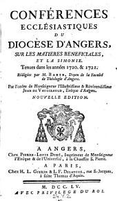 Conferences ecclesiastiques du diocese d'Angers ... , redigees par Babin par l'ordre de ... Jean de Vaugirauld, Eveque d'Angers, Nouvelle ed: Volume10