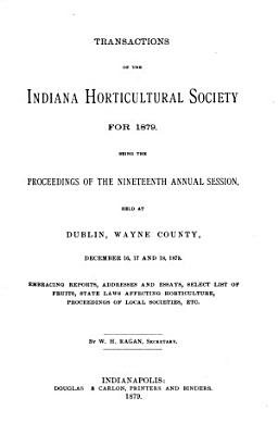 Transactions of the Indiana Horticultural Society ...