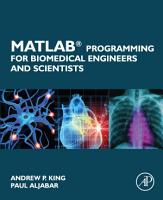 MATLAB Programming for Biomedical Engineers and Scientists PDF